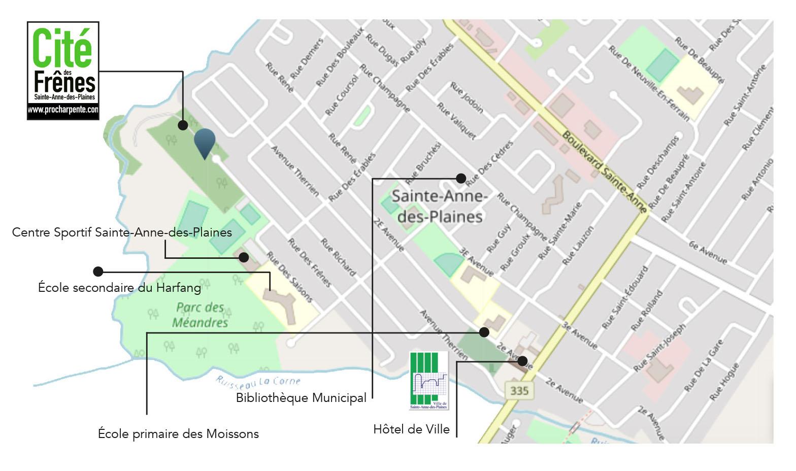 Cité des frene – Carte