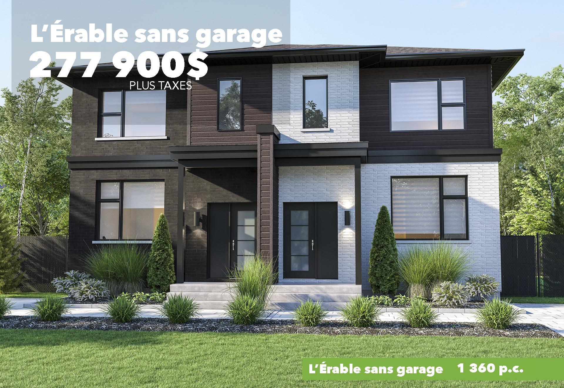 Modèle Érable sans garage